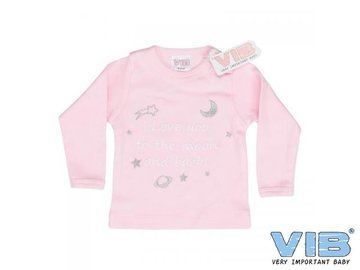VIB Tshirt I love you to the moon and back roze 6mnd