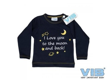 VIB Tshirt I love you to the moon and back Navy 6mnd