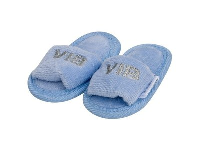 VIB Baby Slippers Blauw (zilver logo)