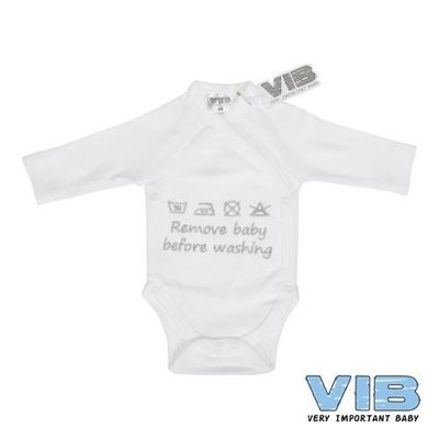 VIB Romper Remove Baby Before Washing