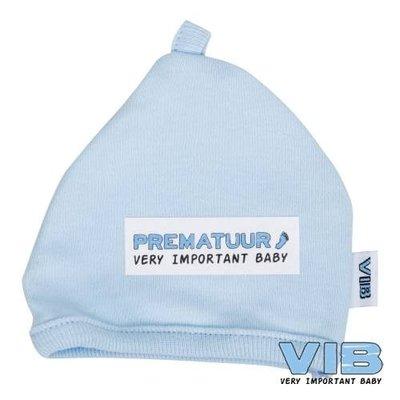 VIB prematuur mutsje blauw