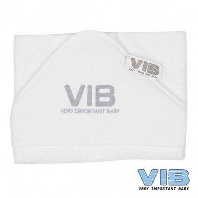 VIB Badcape wit wafel