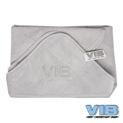 VIB Badcape grijs (velours)