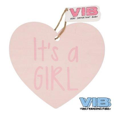 VIB Houten Bordje It's A Girl