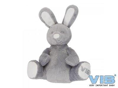 Pluche Konijn Zittend 'Very Important Rabbit' Grijs