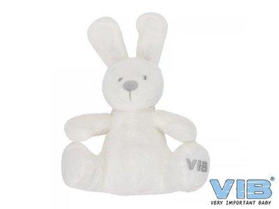 Pluche Konijn Zittend 'Very Important Rabbit' Wit