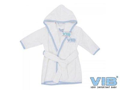VIB Badjasje Wit (blauw logo en bies)