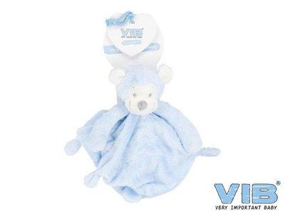 VIB pluche tutteldoekje Very Important Monkey (blauw)