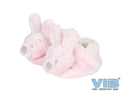 Pluche Konijnenslofjes met konijnenhoofd Roze