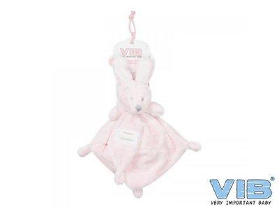 VIB pluche tutteldoekje Very Important Rabbit (roze)
