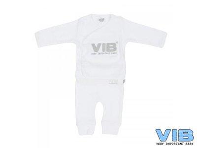 VIB 2-DELIG SETJE (OVERSLAG T-SHIRT+BROEKJE)(wit)