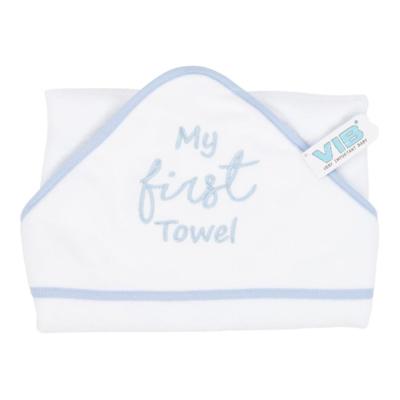 "VIB Badcape ""My First Towel"" Blauw"