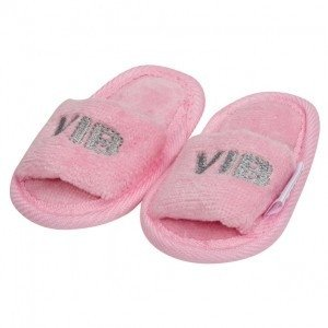 VIB Baby Slippers Roze (zilver logo)