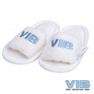 VIB slipper wit blauw