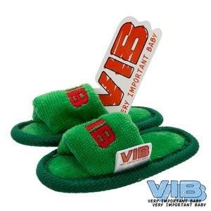 VIB Baby Slippers kerst editie Groen